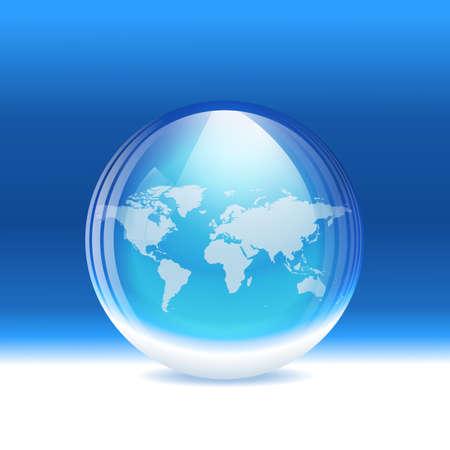 vitreous: snow globe. Layered. Illustration