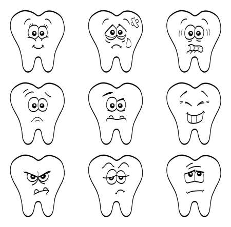 cavities: Teeth Illustration