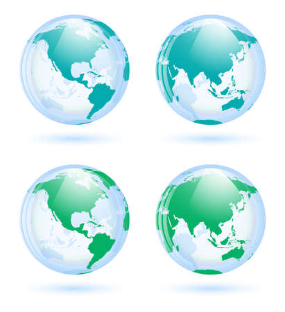 Earth globes set Stock Vector - 20763479