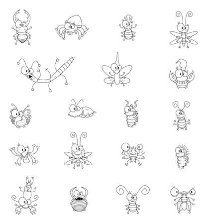 Cartoon insectes