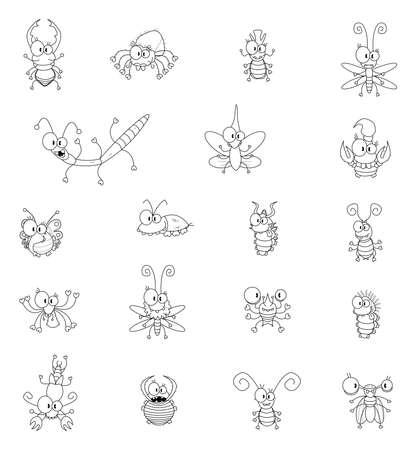 cigarra: Insectos de dibujos animados