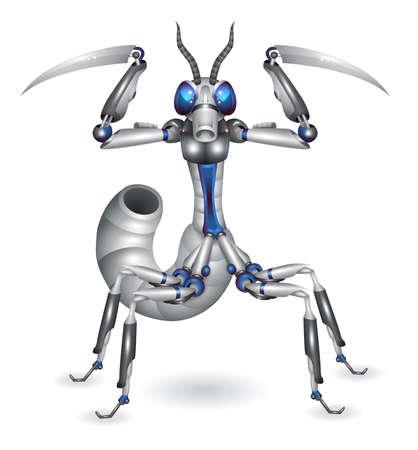 battle evil: Robot-mantis
