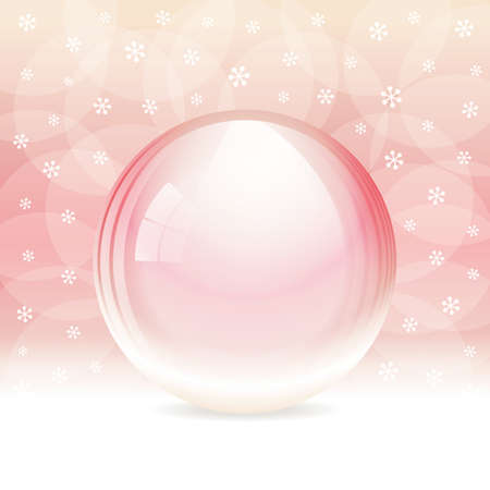 Vector empty transparent snow globe  Layered  Stock Vector - 22031682