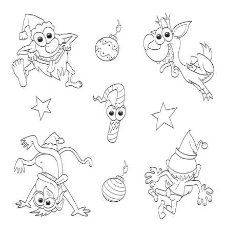 Crazy christmas set Vector
