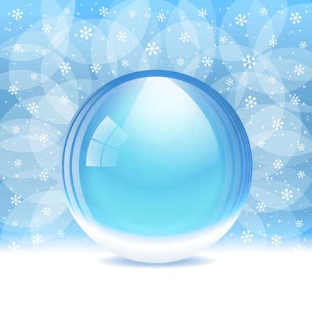 Vector empty transparent snow globe Vector