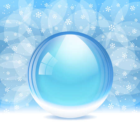 augur: Vector empty transparent snow globe