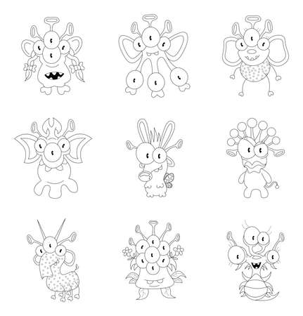 Cartoon monsters Vector
