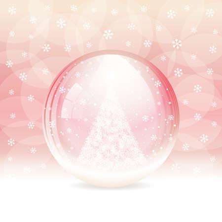 christmas snow globe: Vector snow globe  Layered