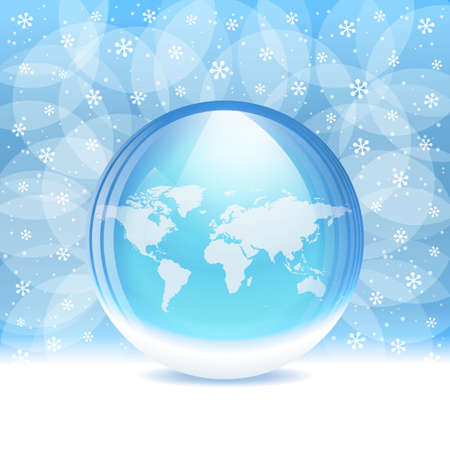 Vector transparent snow globe with map royalty free cliparts vector transparent snow globe with map vector gumiabroncs