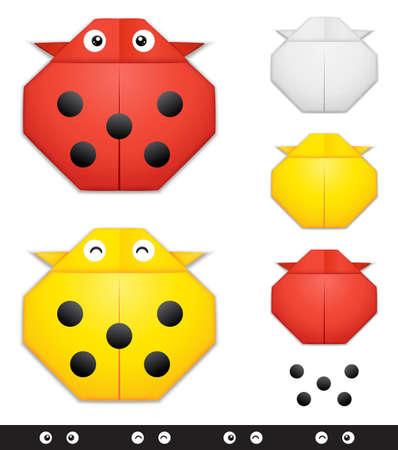 creation kit: Origami ladybug creation kit