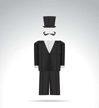 workmanship: Origami tuxedo