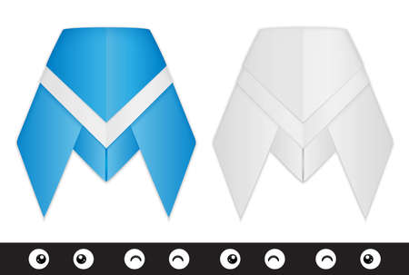 cicada bug: Origami cicada creation kit Illustration