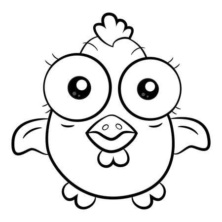 poult: Caricatura de pollo Vectores