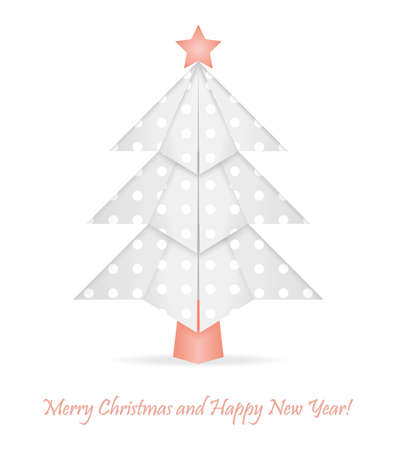 Origami christmas tree Vector