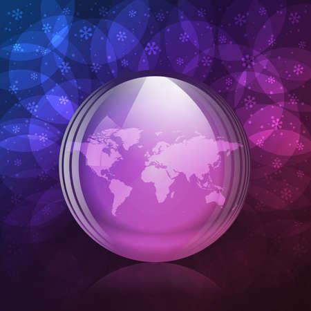 luminescent: Luminescent snow globe Illustration