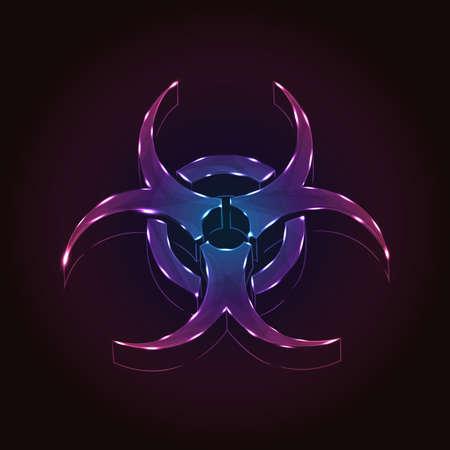 hazard symbol: Biohazard Illustration
