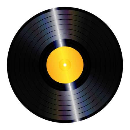 孤立した lp ビニール レコードのイラスト