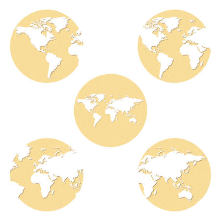 emery paper: Earth globes set