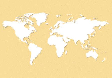 emery paper: Earth map