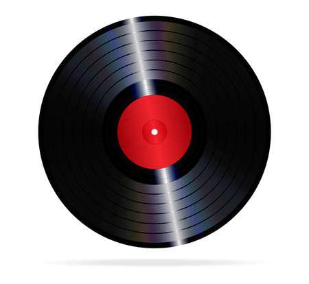 lp: An illustration of a lp vinyl record  Illustration