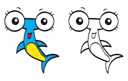 pez martillo: Martillo de la historieta