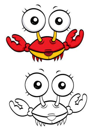 cangrejo caricatura: Cangrejo de dibujos animados Vectores