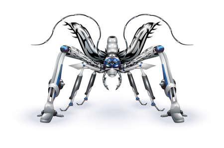 battle evil: Robot-insect Illustration