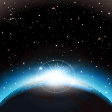 fantasy world: Space background Illustration
