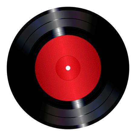 Vinyl plaat Stock Illustratie