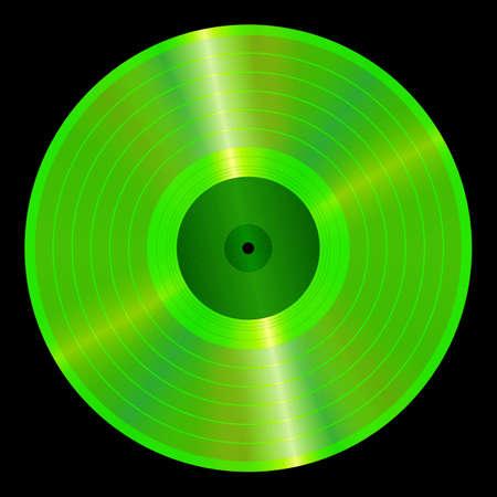 disc jockey: An illustration of a lp vinyl record  Illustration