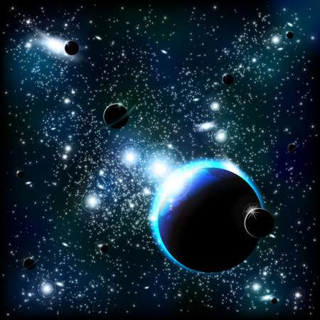 Space background Illustration