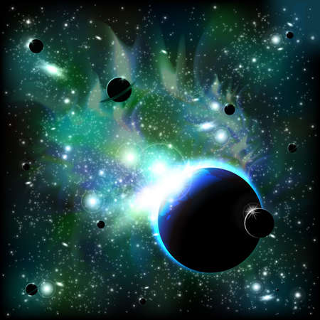 orbital: Space background Illustration