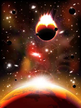 earthlike: Space background Illustration