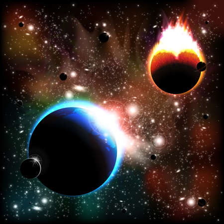 heaven on earth: Space background Illustration