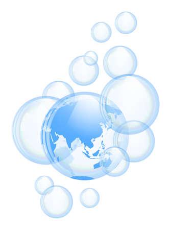 bleb: Bubbles background Illustration