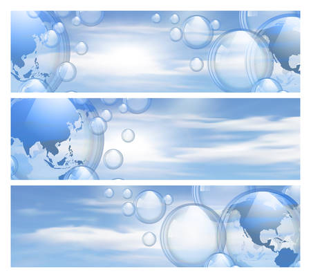 bleb: Sky and bubbles banners