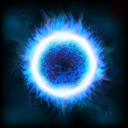 estrella azul: Un fondo el espacio exterior con una estrella azul. En capas.