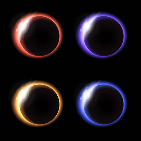 The collection of different eclipse. Vector