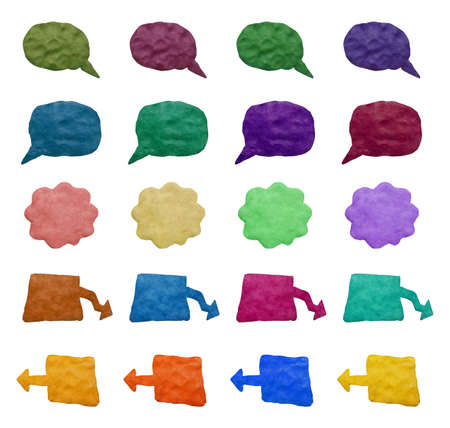 child's play clay: A big set of a colorful plasticine banners.