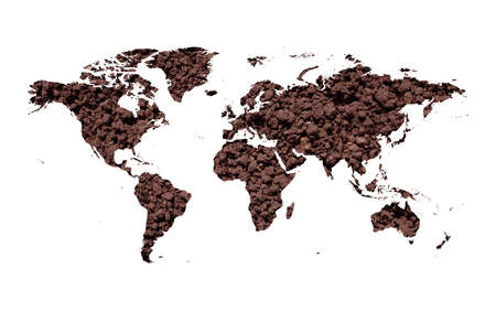 dryness: Soil map Stock Photo