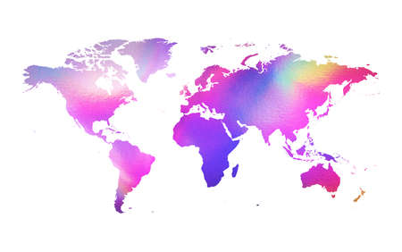 holographic: Holographic map Stock Photo