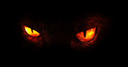 wilkołak: Ilustracja spalania demoniczne oczy.