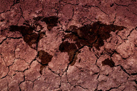 drought: An illustration of a soil earth map. An ecological concept of drought.