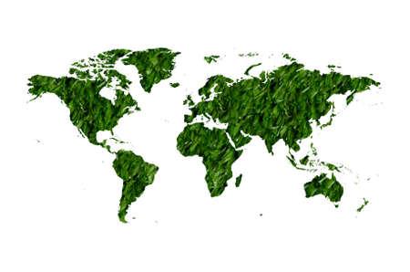 grass plot: An illustration of a grass earth map.