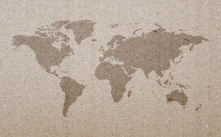 stratum: An illustration of a carton earth map.