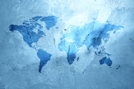 earth map: An illustration of an ice earth map. Stock Photo