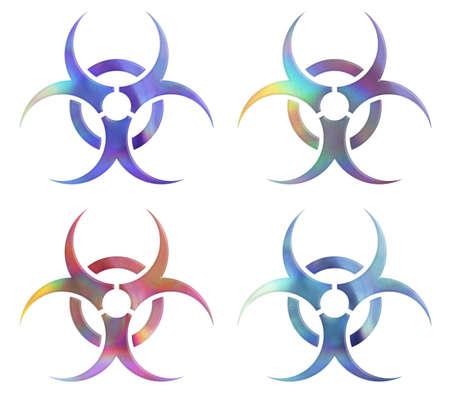 holographic: La raccolta di simboli rischio biologico olografiche.
