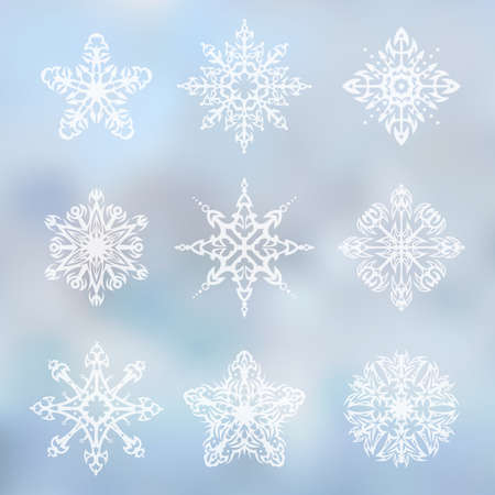 tribalism: Decorative snowflakes set