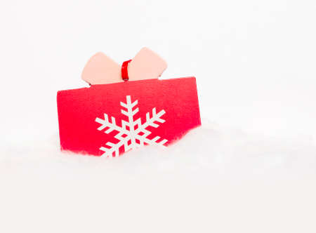 cottonwool: Christmas wooden ornament