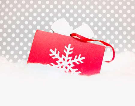fancy box: Christmas wooden ornament
